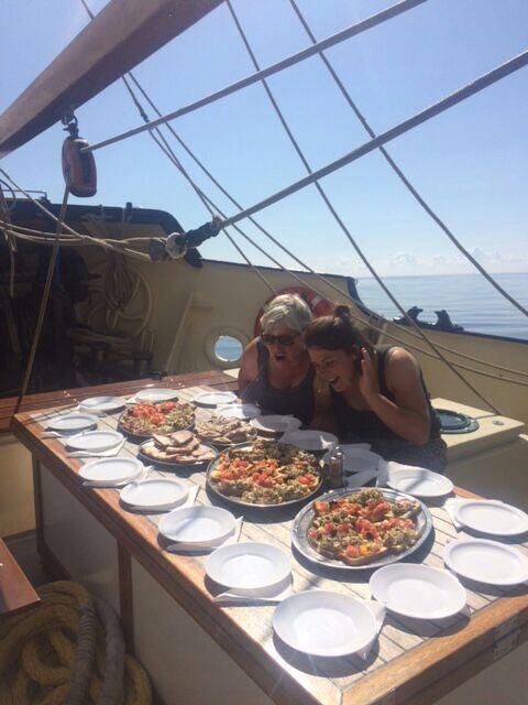 Essen an Bord Oban