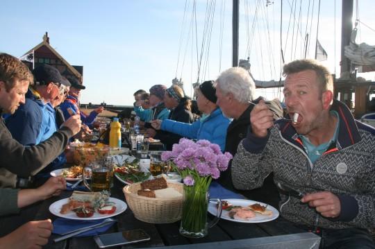 Essen an Bord Oban lecker