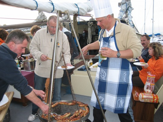 Grillen aan boord Oban