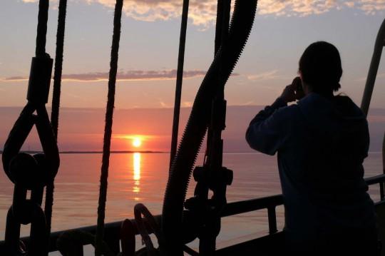Moment van stilte aan Bord Oban